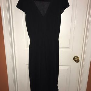 Banana Republic Black Short Sleeve Sweater Dress